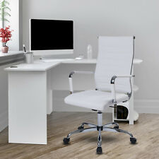 Home Office Chair Ergonomic Executive Computer Chair Height Adjustable Seat Pu