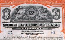Southern Bell Telephone and Telegraph Company DEBENTURE Histor. prestito 1939 USA