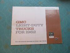 1003t 1962 Gmc Light Duty Trucks deluxe sales catalog brochure mailer?