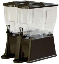 3 gal. Double Reservoir Premium Trim Polycarbonate Beverage Dispenser Black