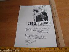 Super Heroines White Trash A Go-Go CA 1980's ORIGINAL Punk Rock concert poster