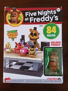 Five Nights At Freddy's FNaF Mcfarlane Office Desk Golden Freddy Minifig New