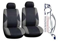 6 PCE Paddington Black/Grey Front Car Seat Covers For Fiat Panda Brava Bravo Pun