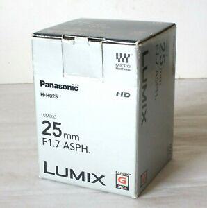Box For Panasonic Lumix 25mm Lens - Empty Box Only