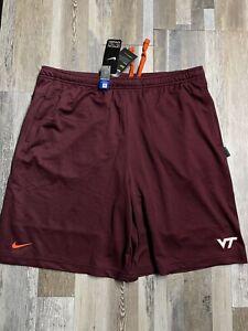 New Nike Dri-Fit Virginia Tech Hokies Men's Authentic ON-FIELD Shorts 2XL Rare