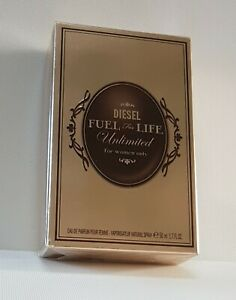 DIESEL FUEL FOR LIFE UNLIMITED WOMEN EDP 50ml SPRAY ( SEALED BOXED ) RARE*******