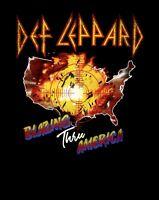 DEF LEPPARD cd lgo Pyromania BLAZING THRU AMERICA '83 TOUR Official SHIRT 2X new