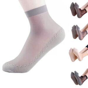 1 Pair Mesh Fashion Women Girls Socks Shorts Super Thin Anti Skid Lace Elastic