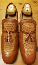 Vintage, Stuart McGuire, Two-Tone Brown, Leather, Tasseled Loafers (Size 11D)