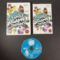 Family Game Night Hasbro Complete w/ Manual (Nintendo Wii) Tested & Working