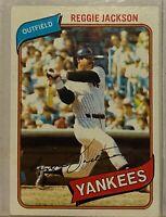 1980 Topps #600 Reggie Jackson HOF New York NY Yankees
