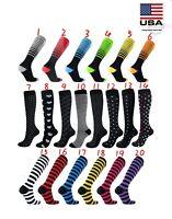 Compression Socks Women Men Knee High Running Medical 20-30 mmHG Size S/M-X/XL