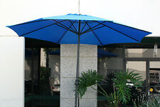 New Patio Outdoor 10' Aluminum Beach Market Sun Umbrella w/ Crank Shade - Blue