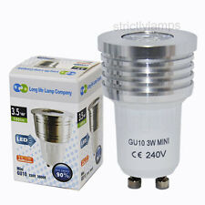 Long Life Lamp GU10 Mini LED Replacement Bulb 3.5W High Power Halogen 35mm New