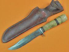 Vintage US Custom Hand Made MORSETH Hunting Knife w/ Sheath