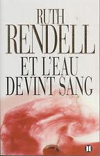 Livre et l'eau devint Sang Ruth Rendell book