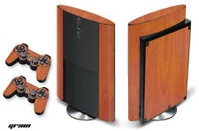 Skin Decal Wrap for PS3 Playstation Gaming Console Controller 3 Super Slim WOOD