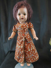 "COMPOSITION CHARACTER DOLL 14"" WITH ALUMINUM EYES"