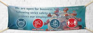 Pandemic Social Distancing PVC Banner Business 2M Open