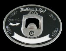 BOTTOMS UP WITH BOTTLE OPENER COOL METAL BELT BUCKLE BOUCLE DE CEINTURE
