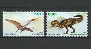 Armenia 2017 Dinosaurs 2 MNH stamps