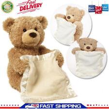 Christmas Peek A Boo Teddy Bear Toddler Kids Children Child Play Soft Toy Plush