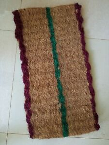 Natural Coconut Coir Doormat Welcome Mat Chunky Rope Knotted Weave Sturdy Heavy
