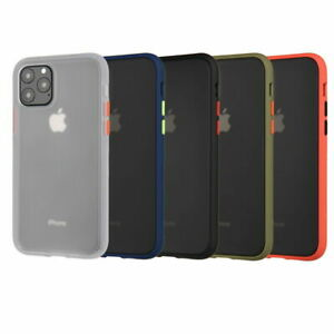 For iPhone 11 Pro Max XS XR Shockproof Clear Hybrid Slim Bumper Matte Case Cover