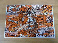 Sticker Bomb sheet 3e - Orange - A4 size