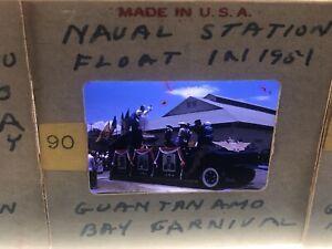 Lot Of 47 Cuba Slides 1950s Red Border Kodachrome Guantanamo Parade Navy Houses