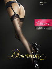 FIORE Marlena Luxury Super Fine 20 Denier Sheer Seamed Stockings