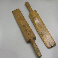 2 x antikes Mangelbrett Massivholz um 1900 oder älter ca. 44 x 7 x 5 cm