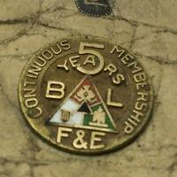 Vintage Hat Pin Brotherhood of Locomotive Firemen & Enginemen Railroad