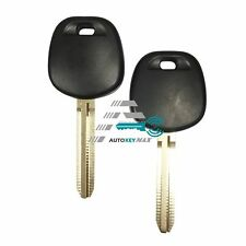 2 New Replacement Ignition Chipped Car Key Transponder Chip 4D67 Blank Blade