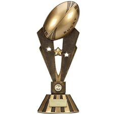 RUGBY TROPHY SIZE 47 CM FREE ENGRAVING A1405C RESIN CONSTRUCTION