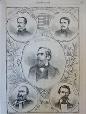1861 HONGRIE HOMMES CELEBRES TELEKI DEAK KOSSUTH TURR SZECHENY