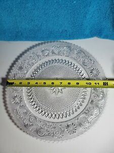 """Vintage Indiana Glass 12"""" Sandwich & Deviled Egg Tray Platter Tiara Clear"""