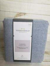 THRESHOLD Solid Flannel Sheet Set Grey Queen