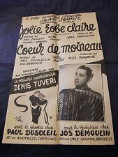 Partition Jolie robe claire J Sergil Coeur de moineau Denis Tuveri Music Sheet