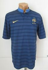 FRANCE EURO 2012/2013 HOME FOOTBALL SHIRT SOCCER JERSEY MAILLOT FFF NIKE NAVY M