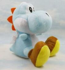 6'' Super Mario Bros Plush Doll Soft Figure Toy Sitting YOSHI Light Blue