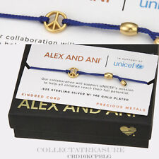 Authentic Alex and Ani Peace, 14kt GP BLUE Kindred Bracelet