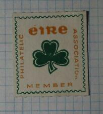 Erie Philatelic Association Member 3 Leaf Clover Philatelic Souvenir Ad Label