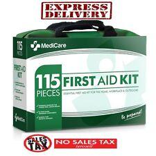 First Aid Kit Bag Box 115 pc Home Car Trauma Military Survival Travel Camping