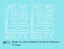 K4 TT Decals Toledo, St Louis & Western 35 / 45 Ft Wood Boxcar Clover Leaf