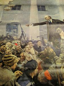Lenin Art Poster USSR 1980s' Socialist Realism Vintage