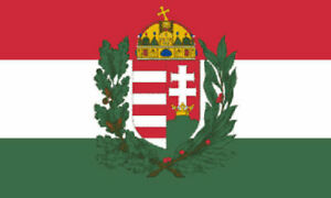 5' x 3' Hungary State Crest Flag Hungarian Europe Country Banner