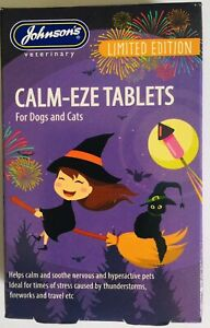 JOHNSON'S CALM-EZE TABLETS HELPS CALM & SOOTHE DOGS, CATS THUNDER, FIREWORKS