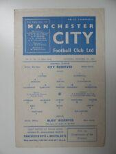 More details for manchester city v bury | 1961/1962 | reserves | 9 dec 1961 | uk freepost