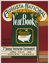 The Masters Vintage Poster -  1935 Annual Invitational 18 x 23.25 inches